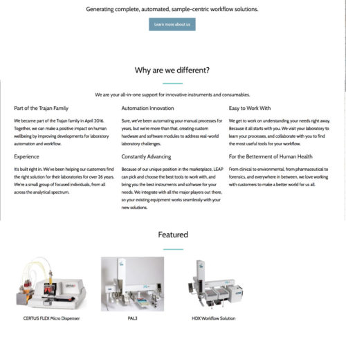 Leap Technologies Website Design
