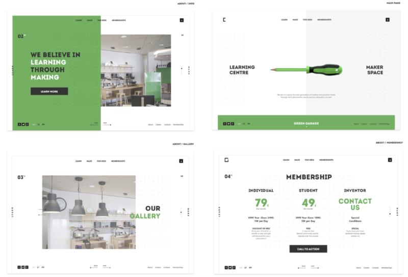Maker Space Website Design