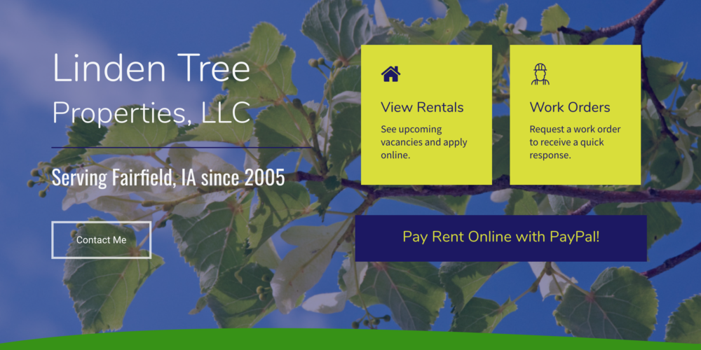 Linden Tree Properties Website Design