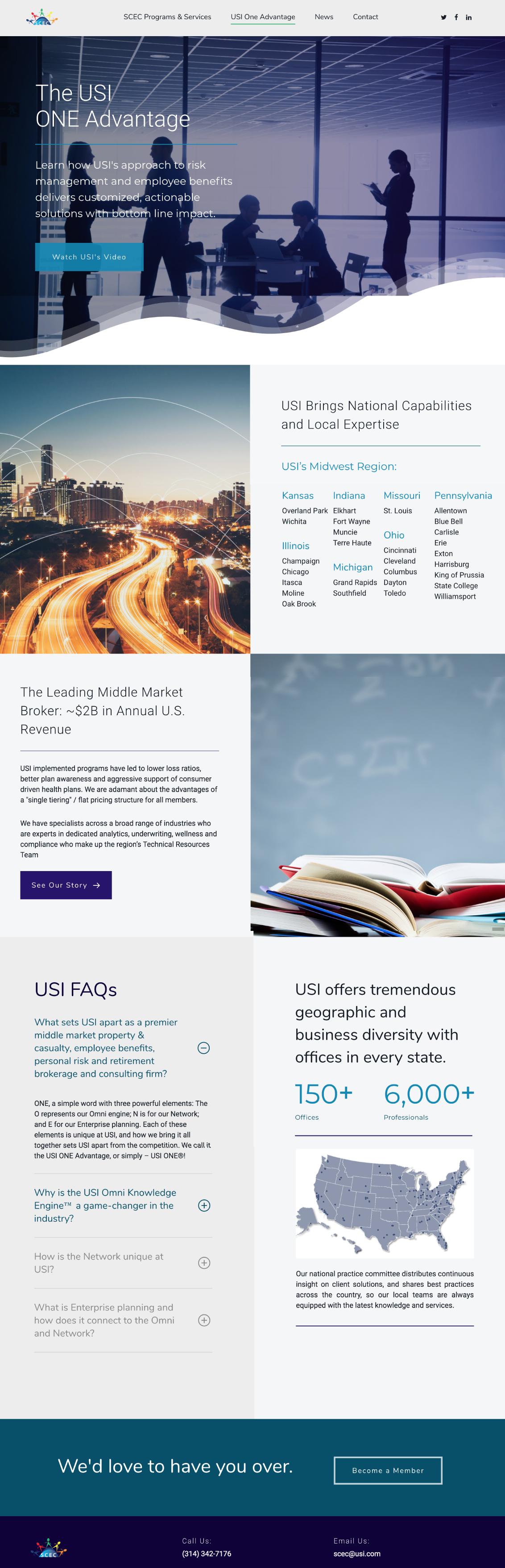 USI Insurance Website Design 2