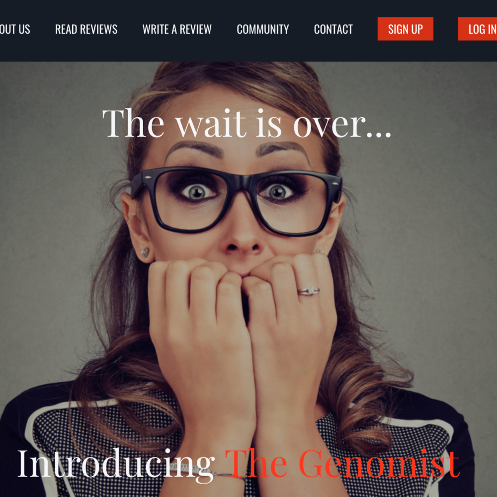 The Genomist Website Design
