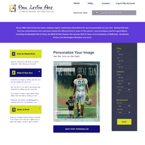 Paul Levine Website Design