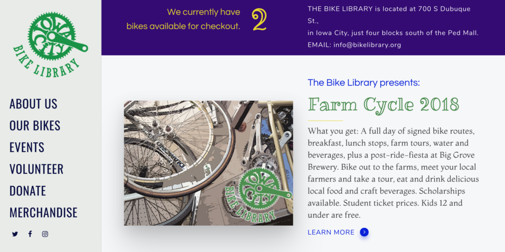 Iowa City Bike Library Website Design