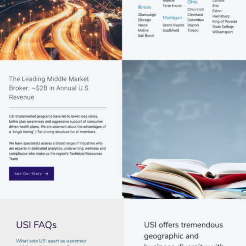 USI Insurance Website Design