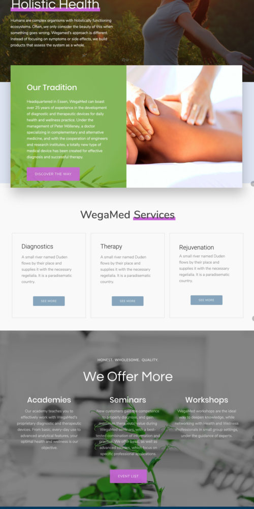 Holistic Health Website Design