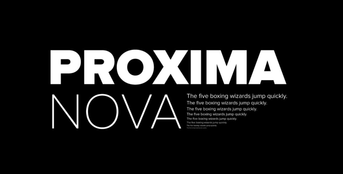Proxima Nova Best Font
