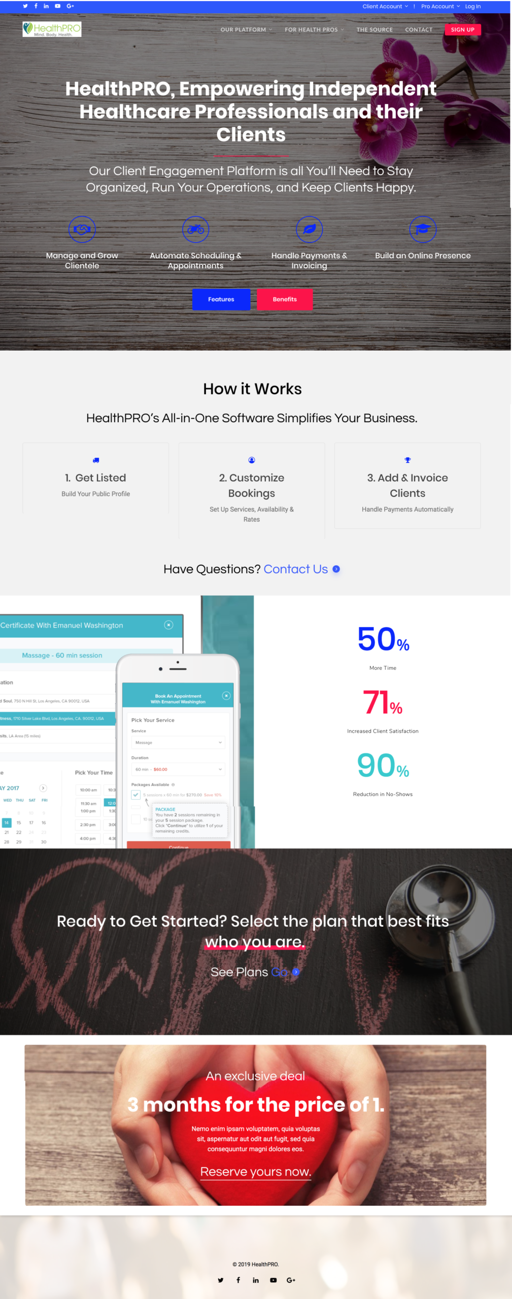 HealthPro Website Design