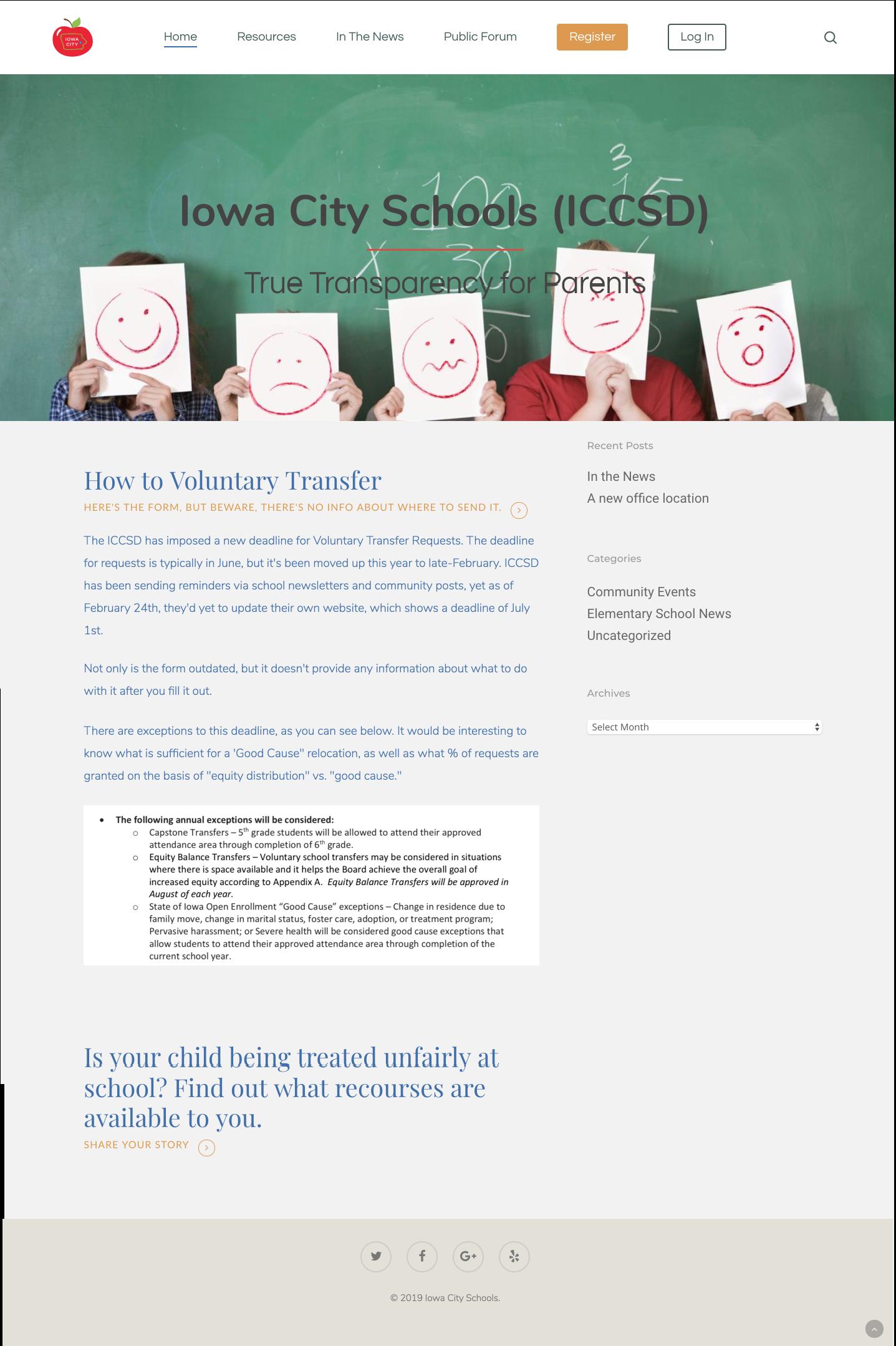 Iowa City School District – True Transparency for Parents
